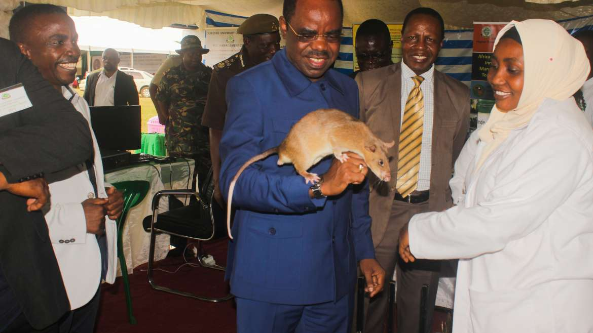 The Regional Commissioner of Morogoro visit Pest Management Centre booth